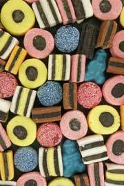 close up photo of allsorts sweets